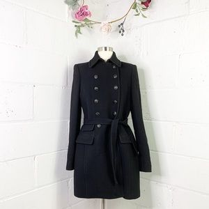 J.Crew Double Breasted Military Style Wool Coat